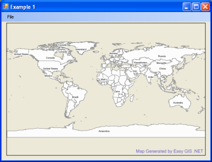 Easy GIS  NET - Developer Resources  Example Code to Display